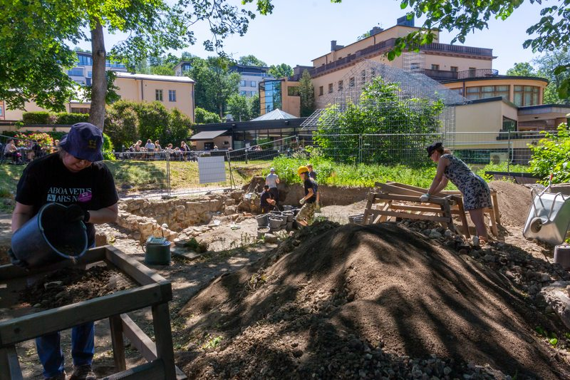 Aboa Vetus & Ars Nova is conducting an archaeological excavation in the museum courtyard during the summer of 2019.