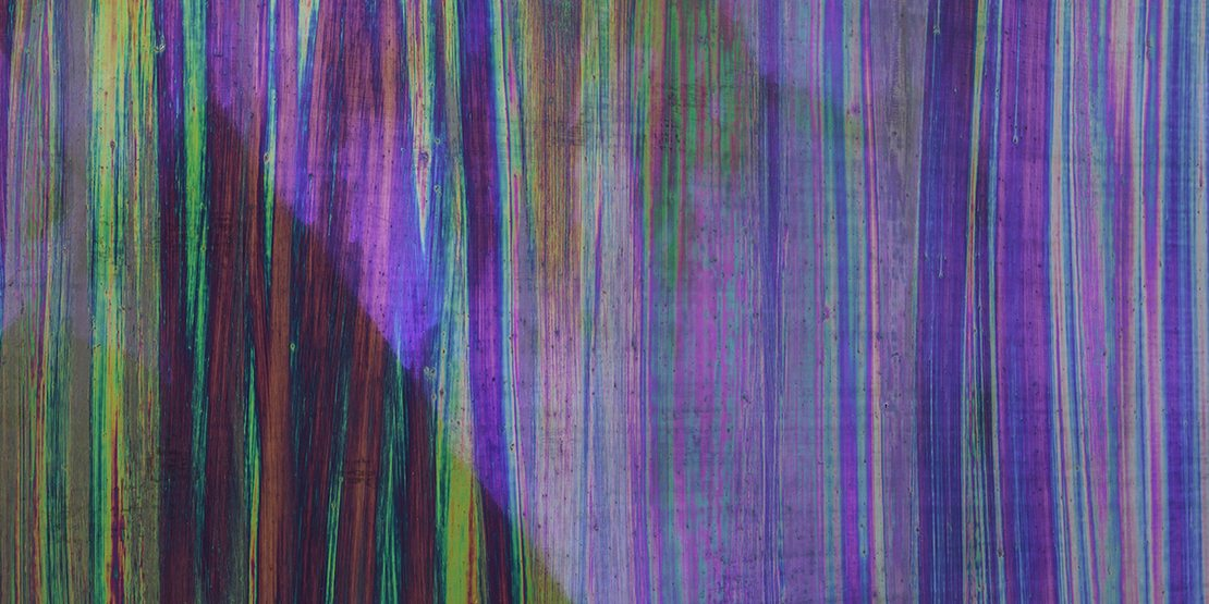 Tiina Pyykkinen Until it Melts Away 2017 alkyd, oil and purple pigment on canvas 180 x 150 cm Photo: Rauno Träskelin