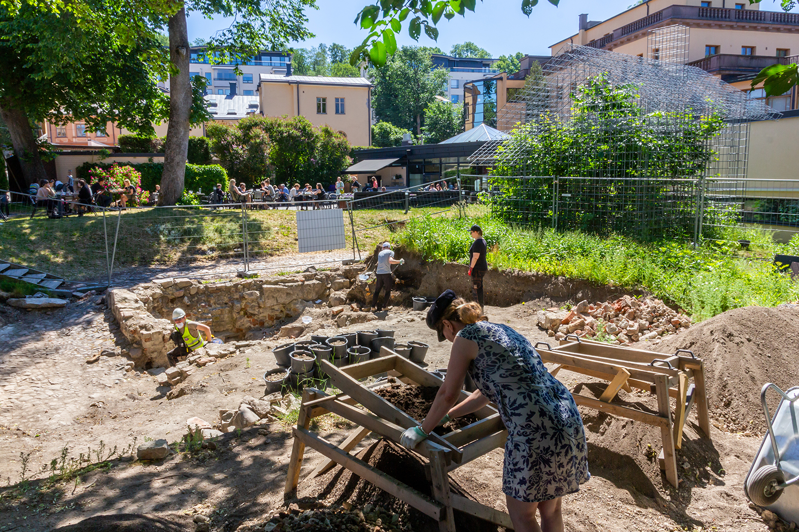 Archaeological excavations under way